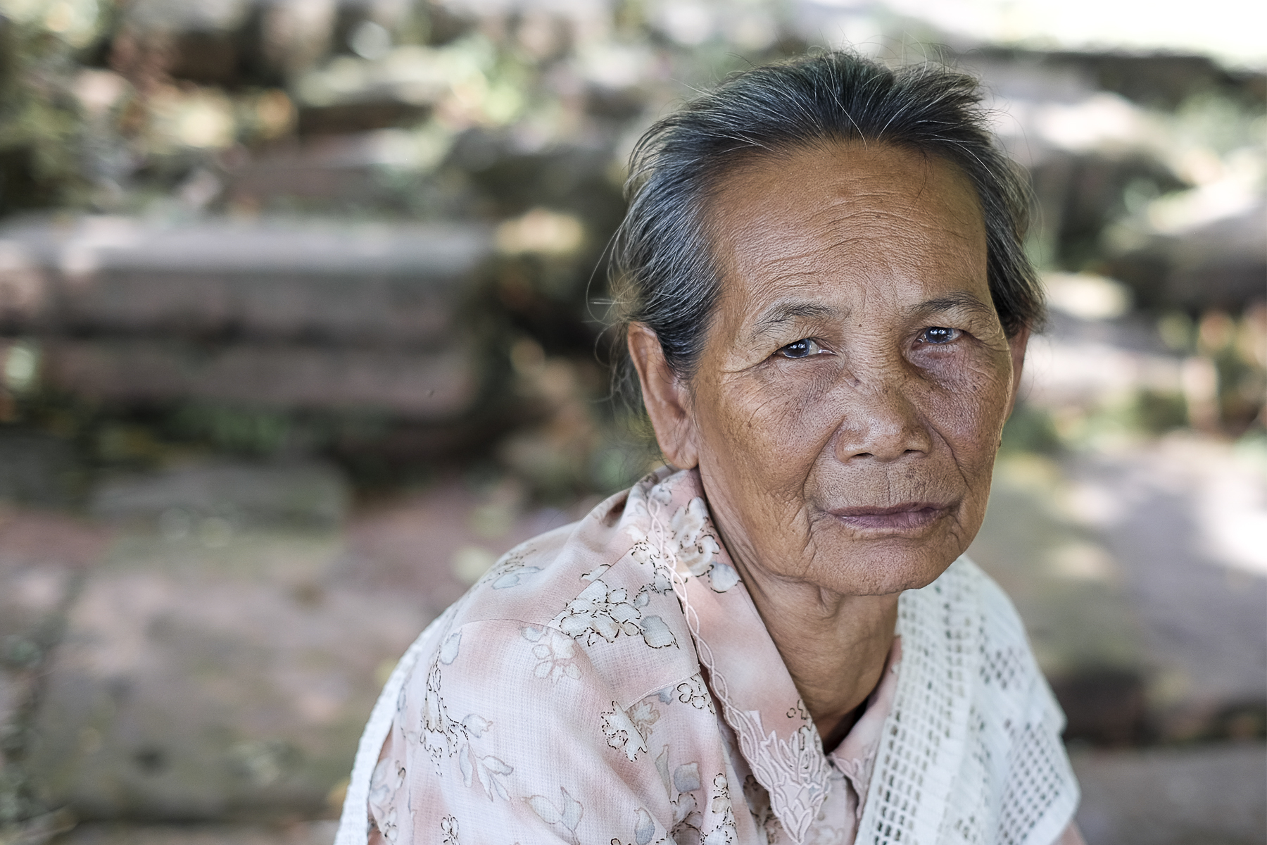 Portrait old lady
