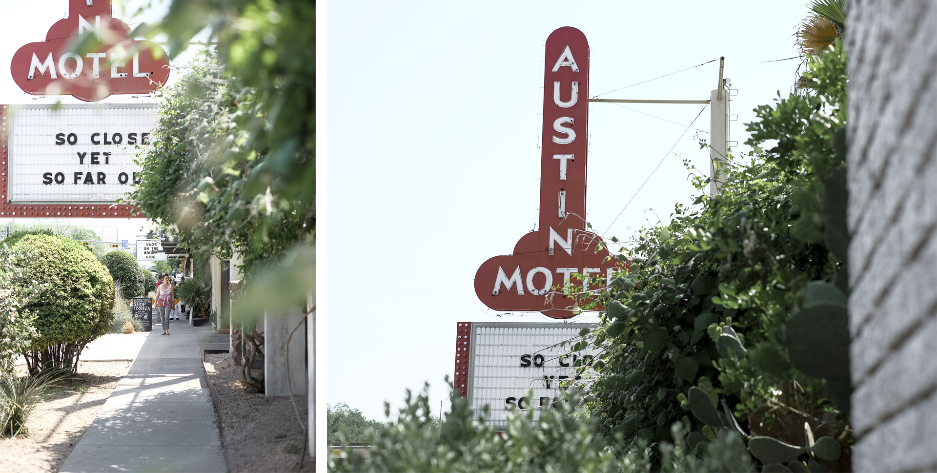 Sugestive sign of the Austin Motel