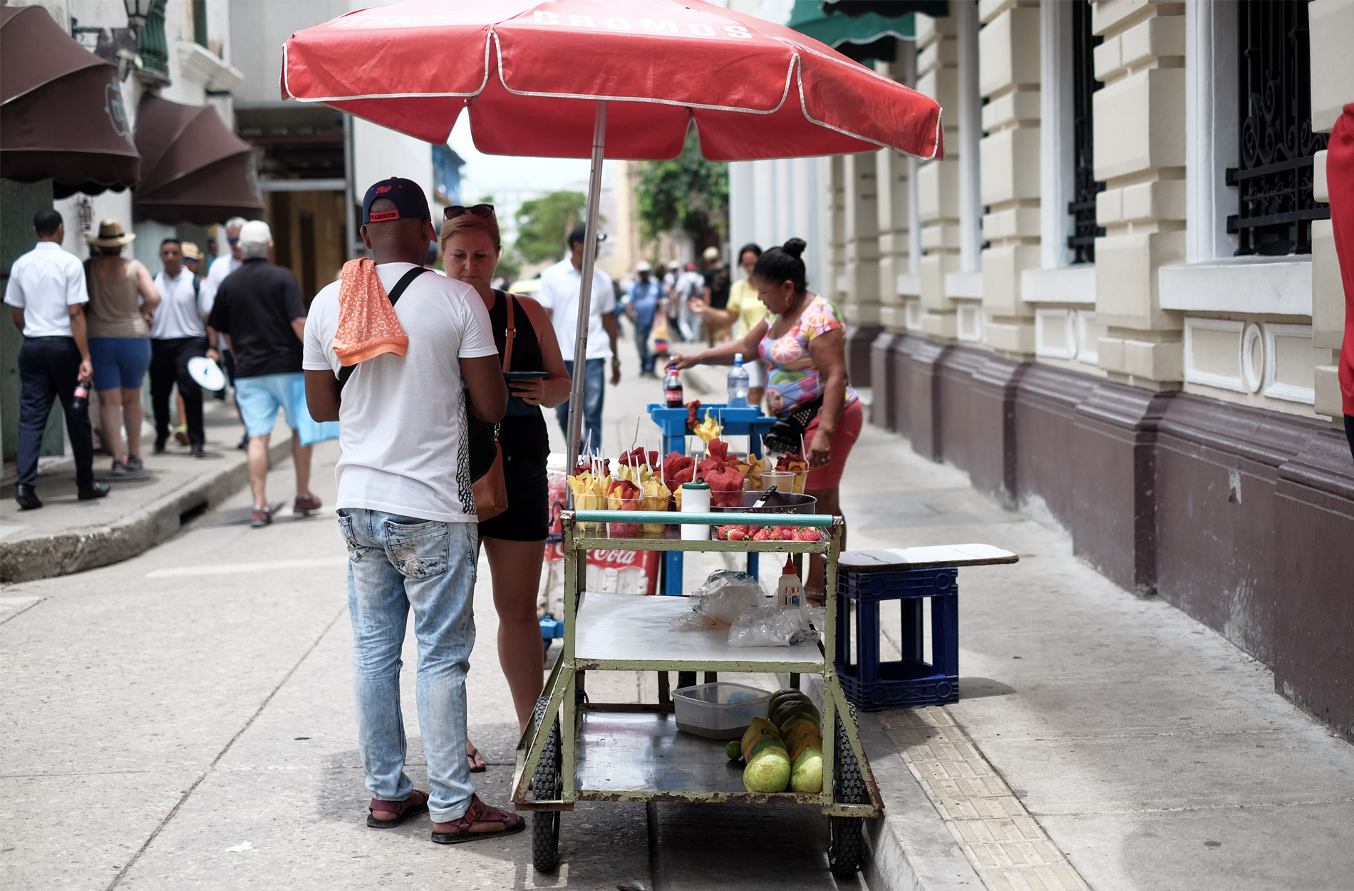 fruit stand street cartagena