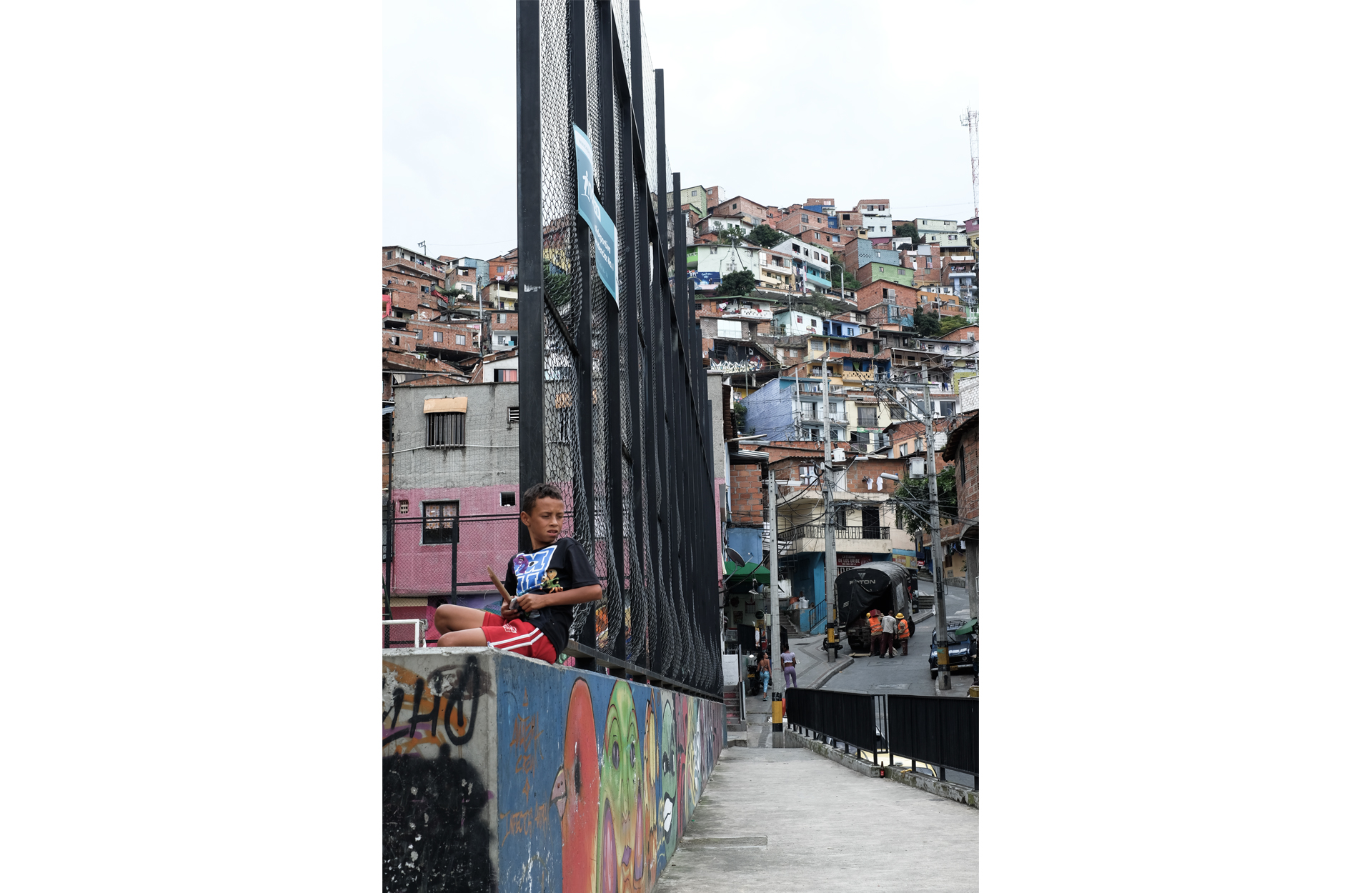 view on the favelas houses kid