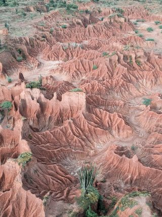 desert of tatacoa shapes orange green