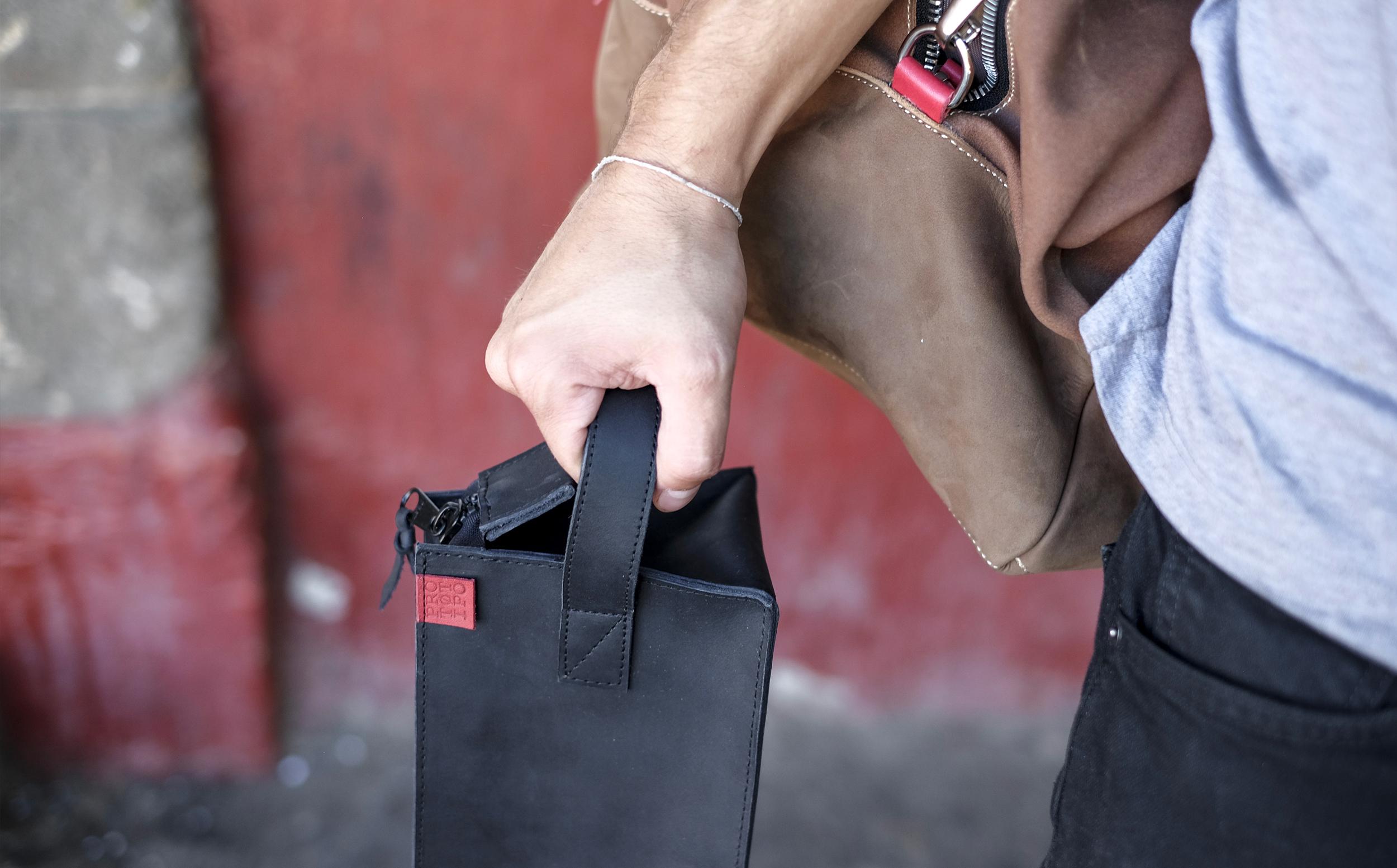 bag leather prototipo cero