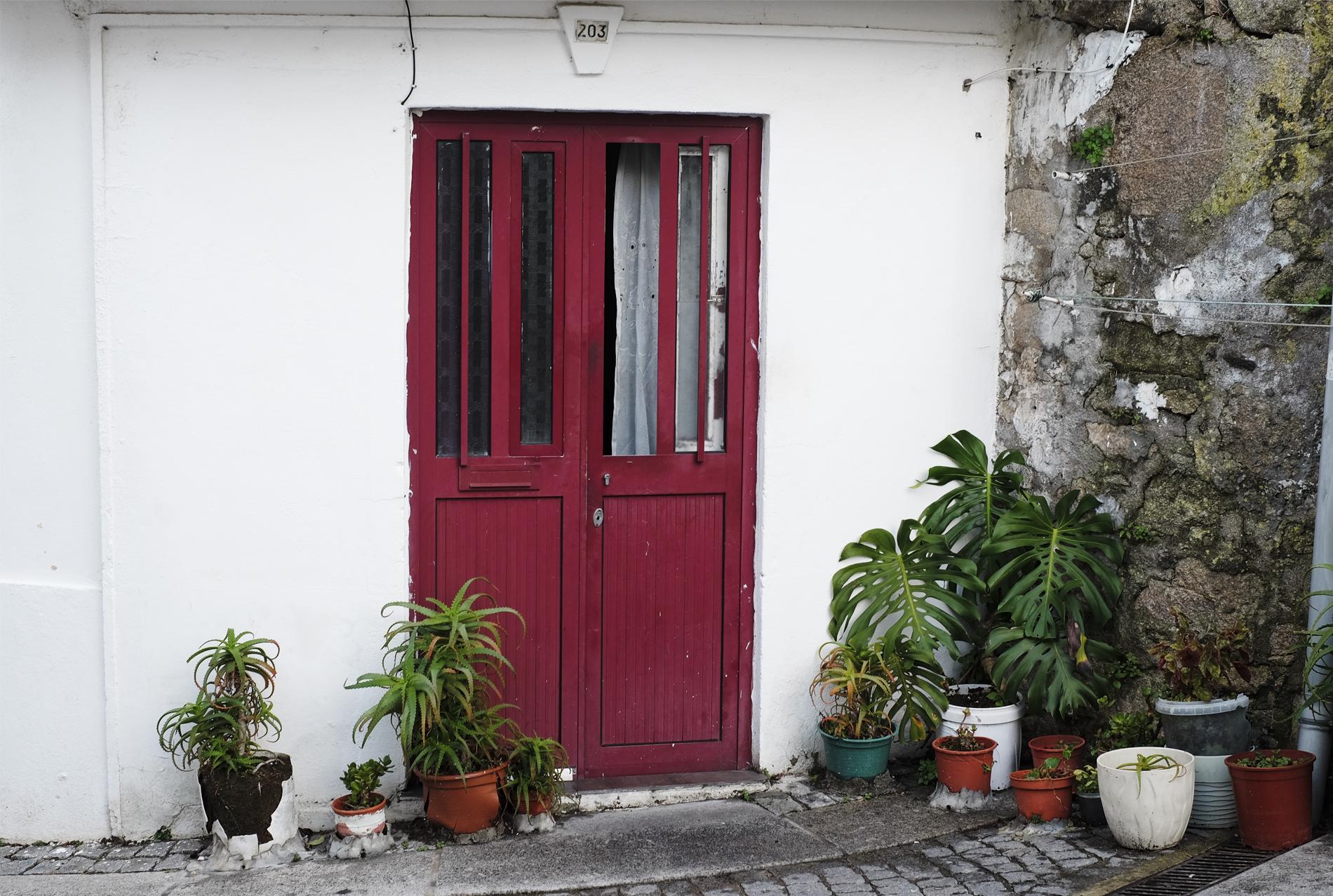 red door in porto