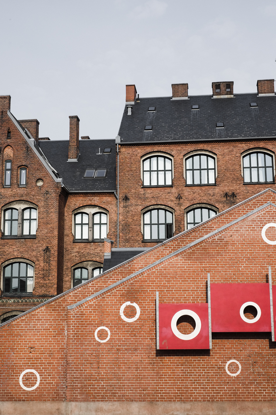 Red block building of Copenhagen