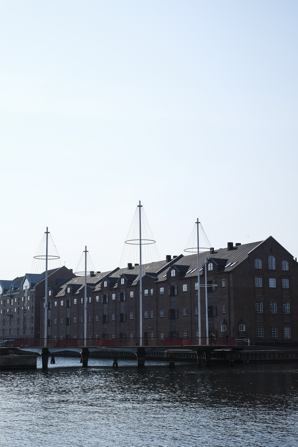 buildings, circle bridge and quay in Copenhagen