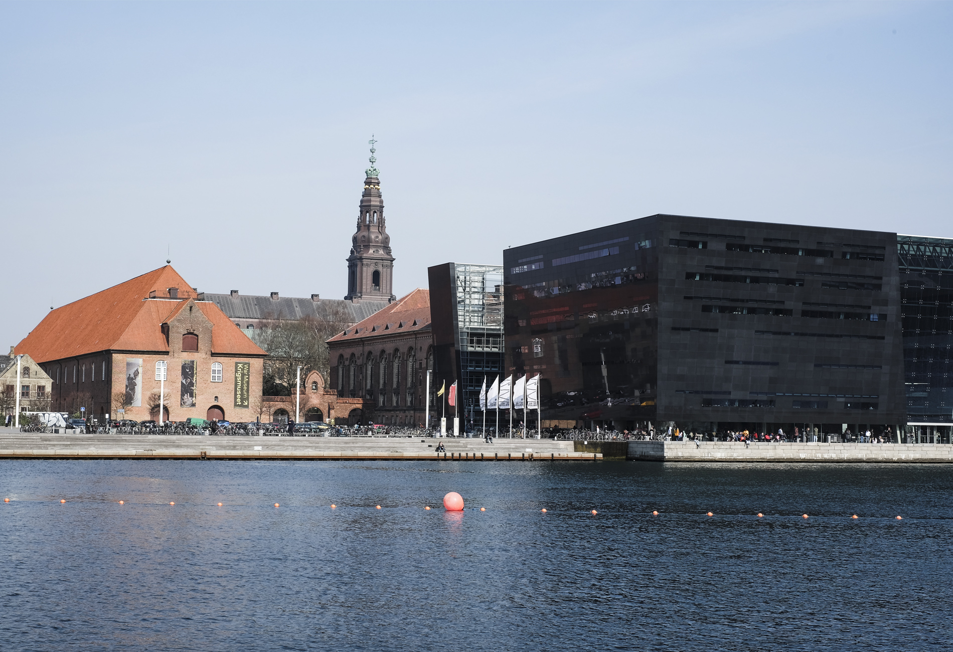 quay and library in Copenhagen
