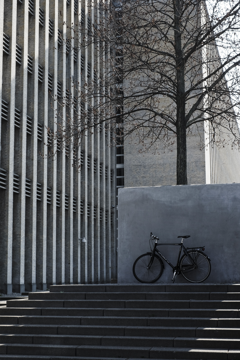 minimal bike and buildings