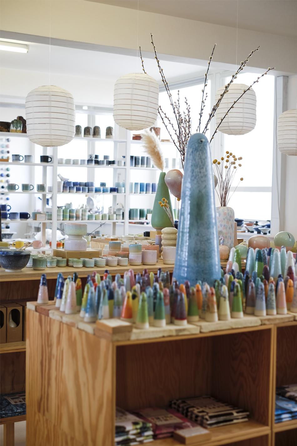 showroom and workshop of ceramics