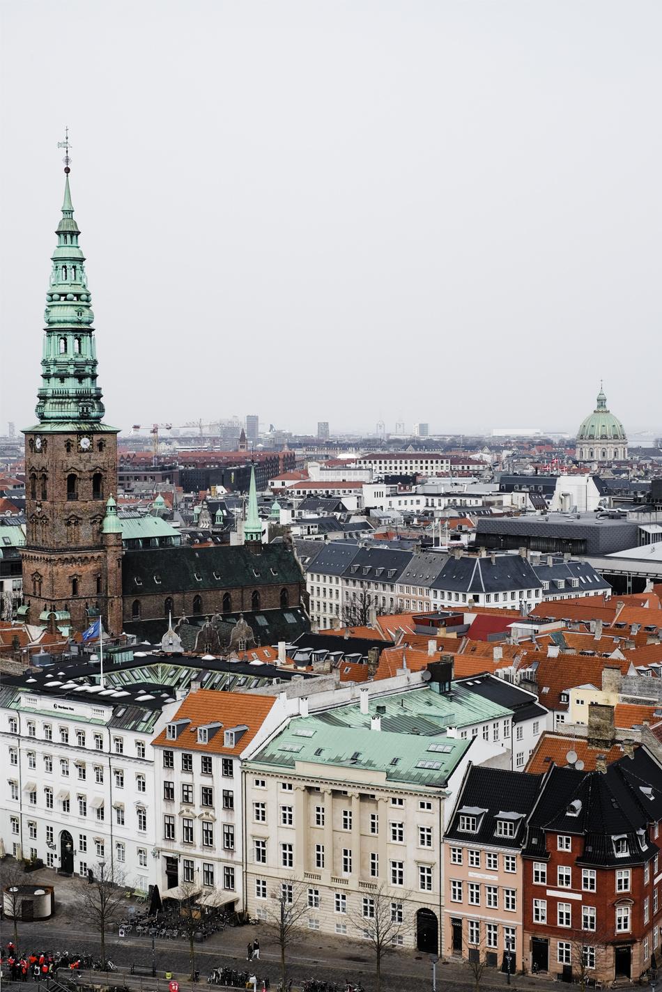 roofs and buildings of copenhagen