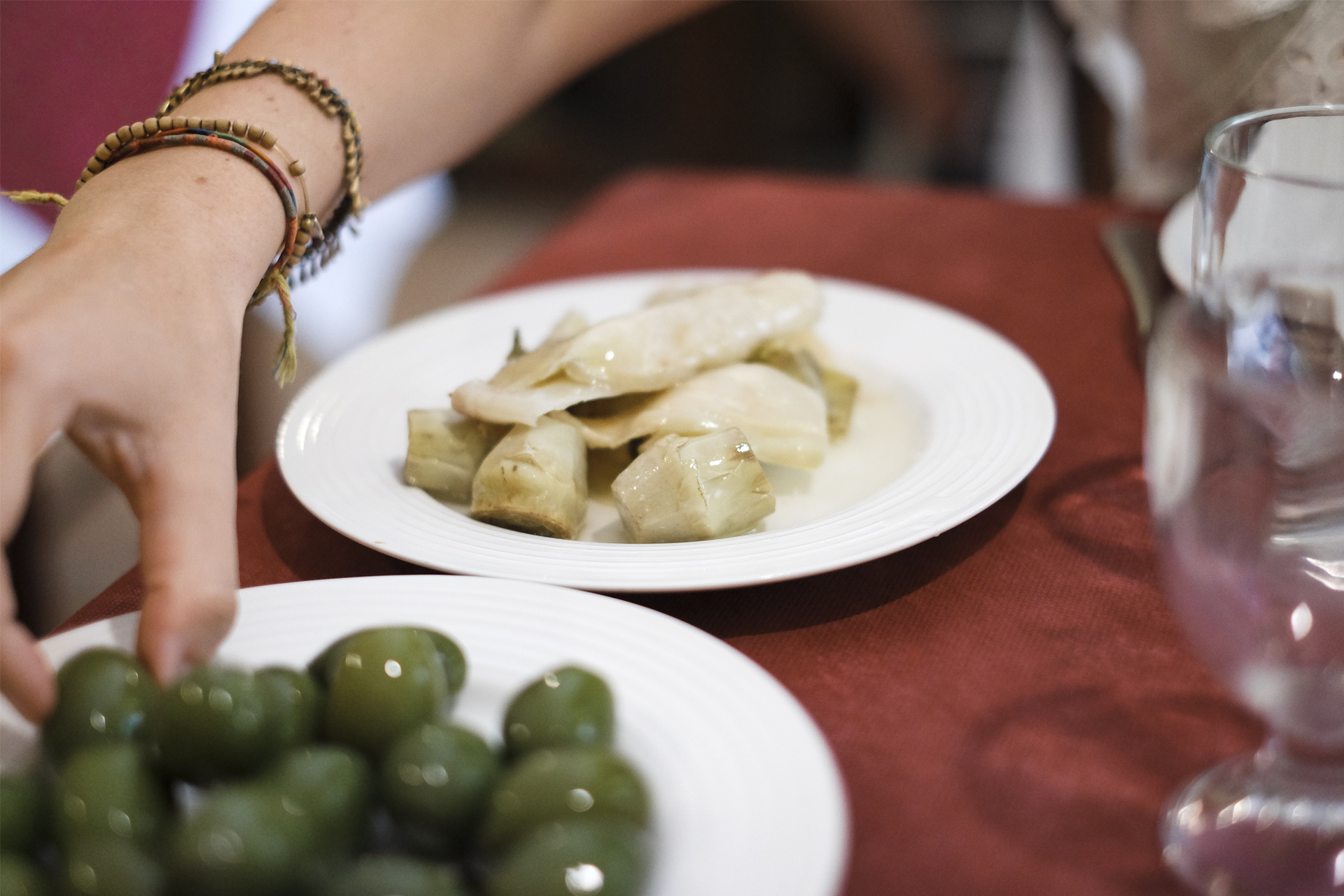 A glimpse of Puglia olives and artichokes