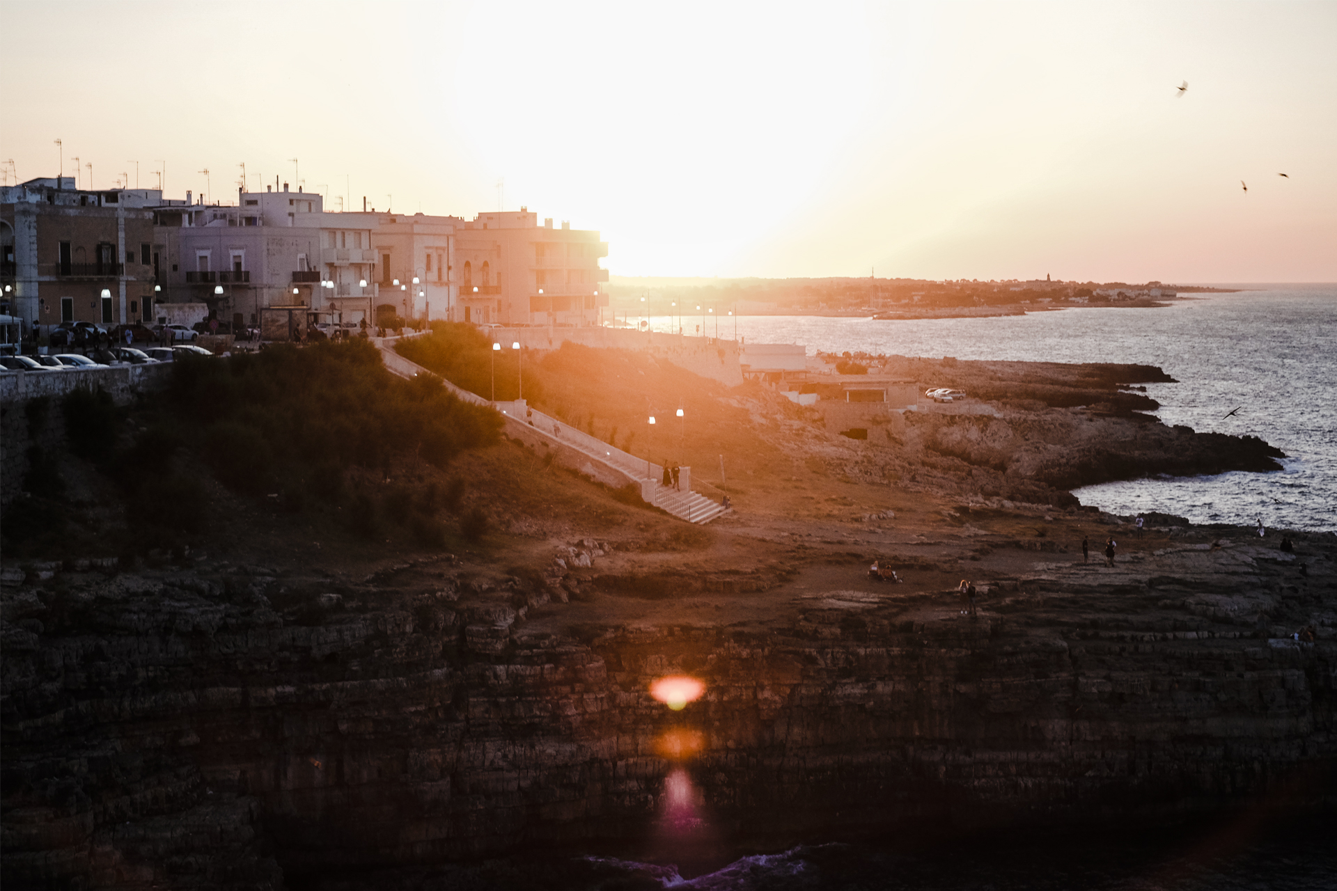 A glimpse of Puglia, sunset from aquamarea hotel