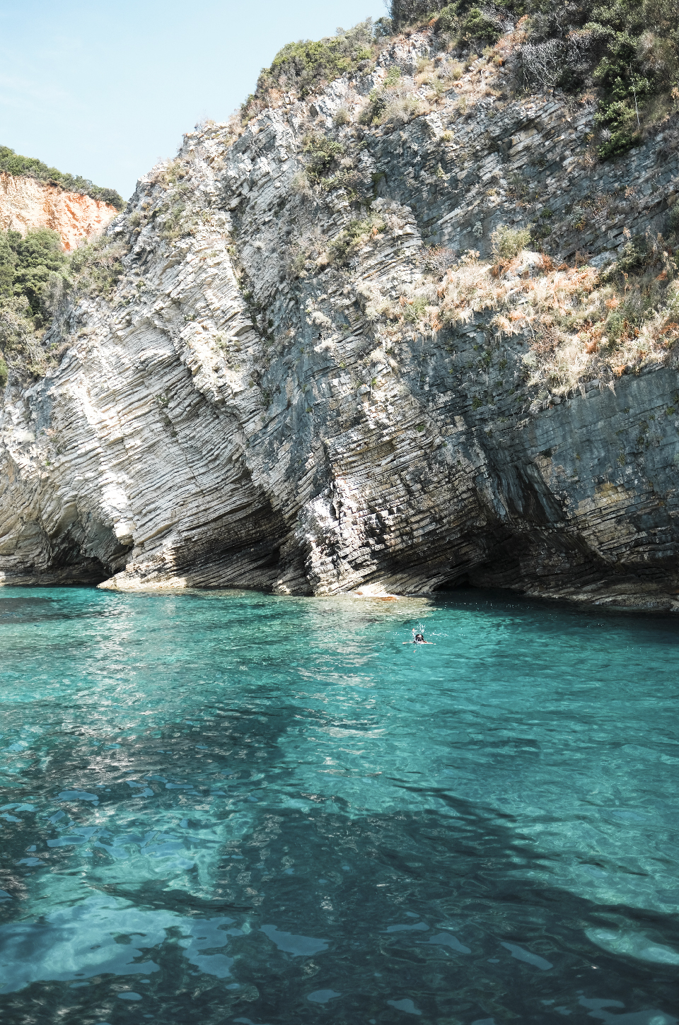View of the Adriatic sea and caves, weekend in Greece