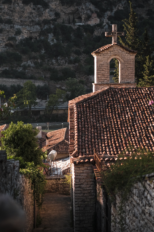 Roof of Orthodox church in berat