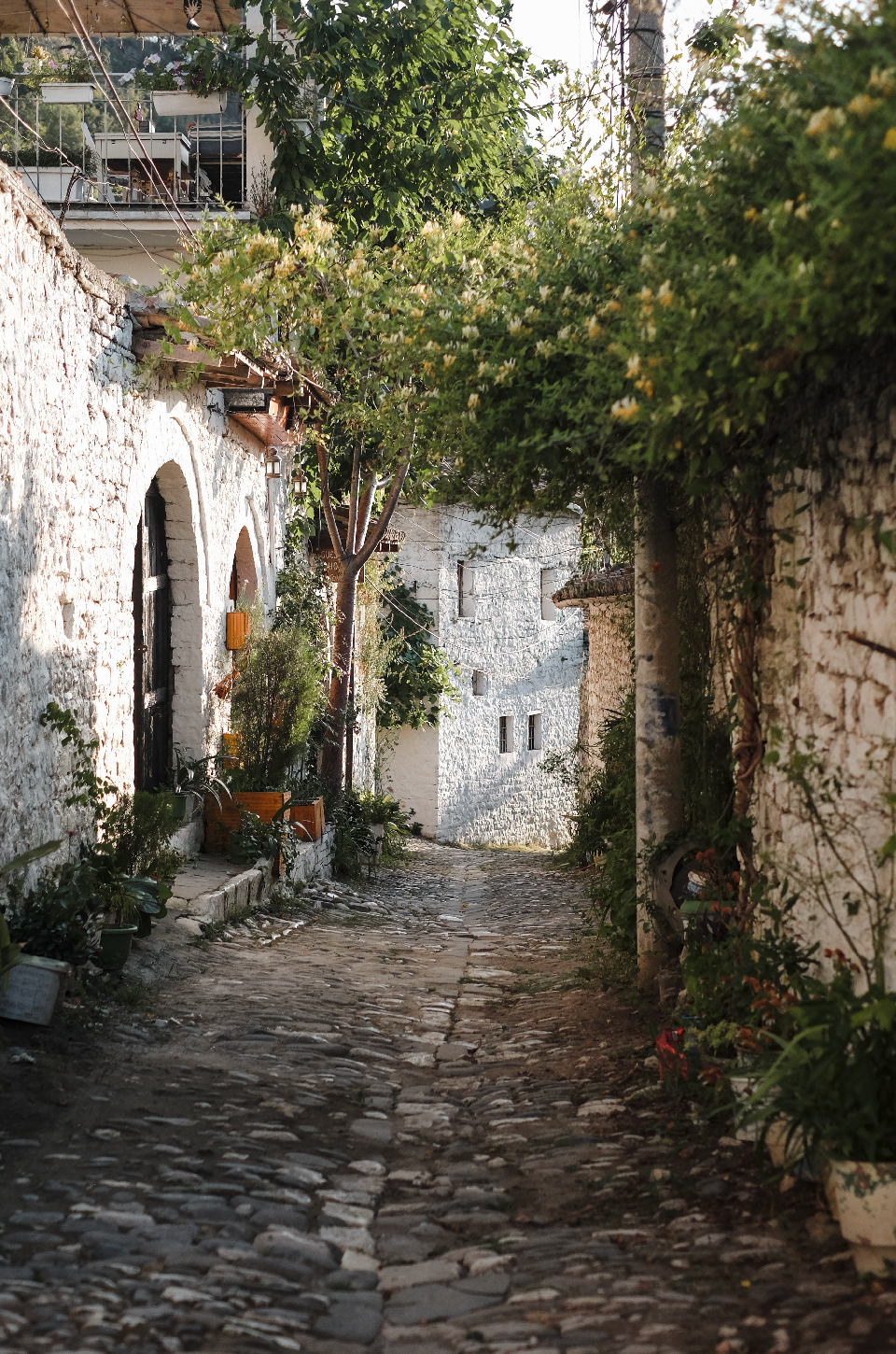 Crooked alley in Berat