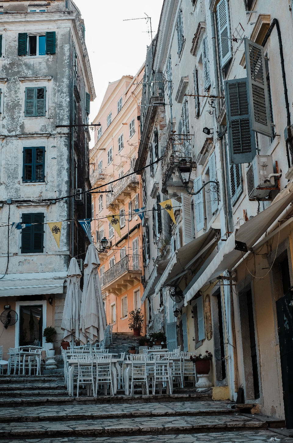 Buildings of corfu, weekend in Greece