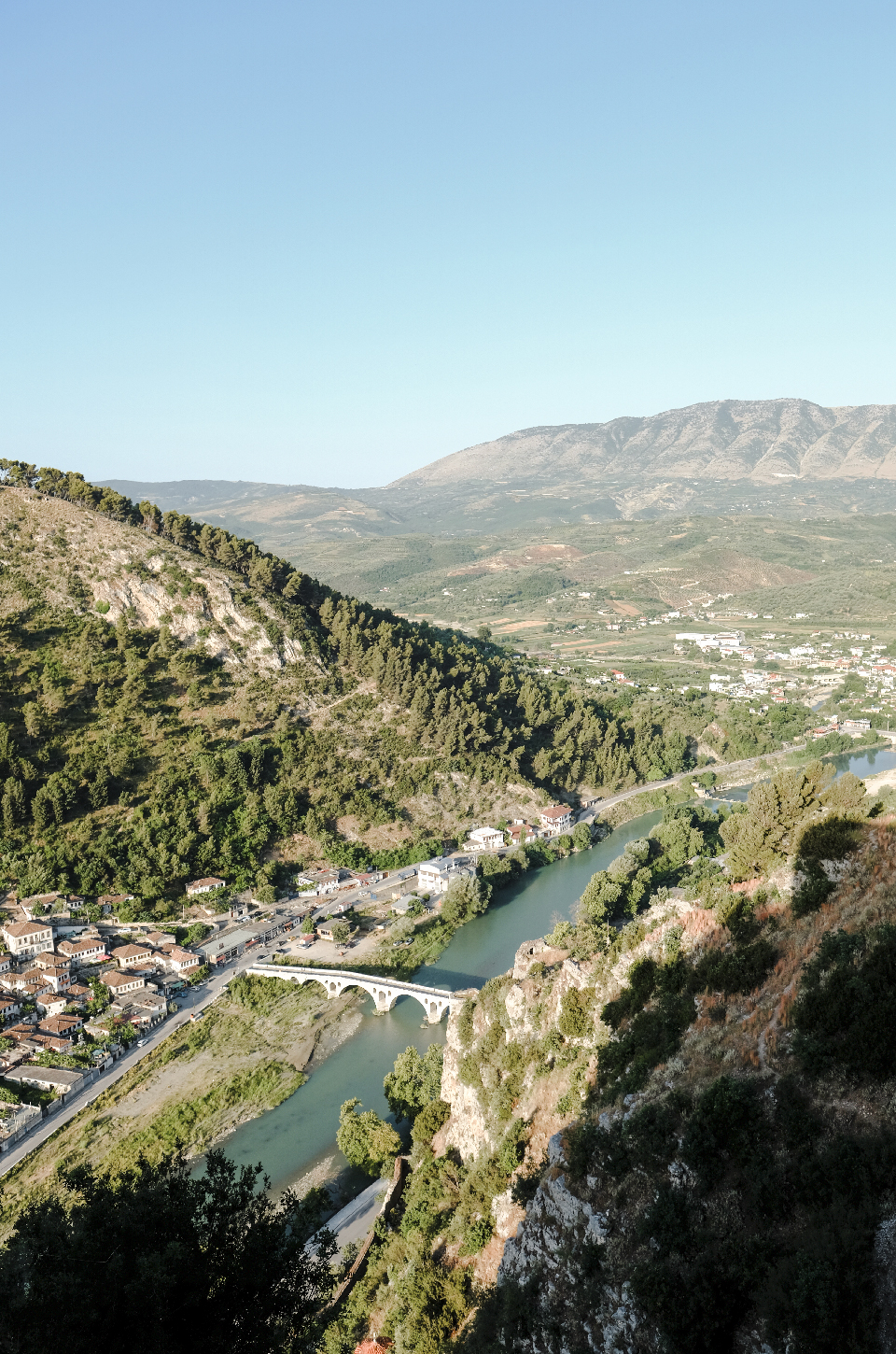View from the top of the castle of Berat