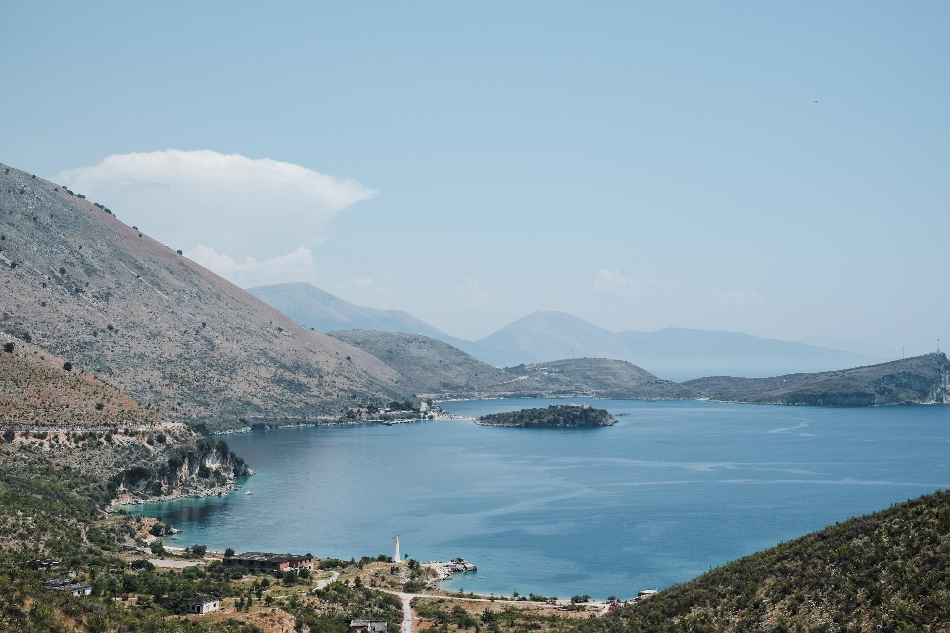 view of the Adriatic sea from Porto Palermo castle, Albania