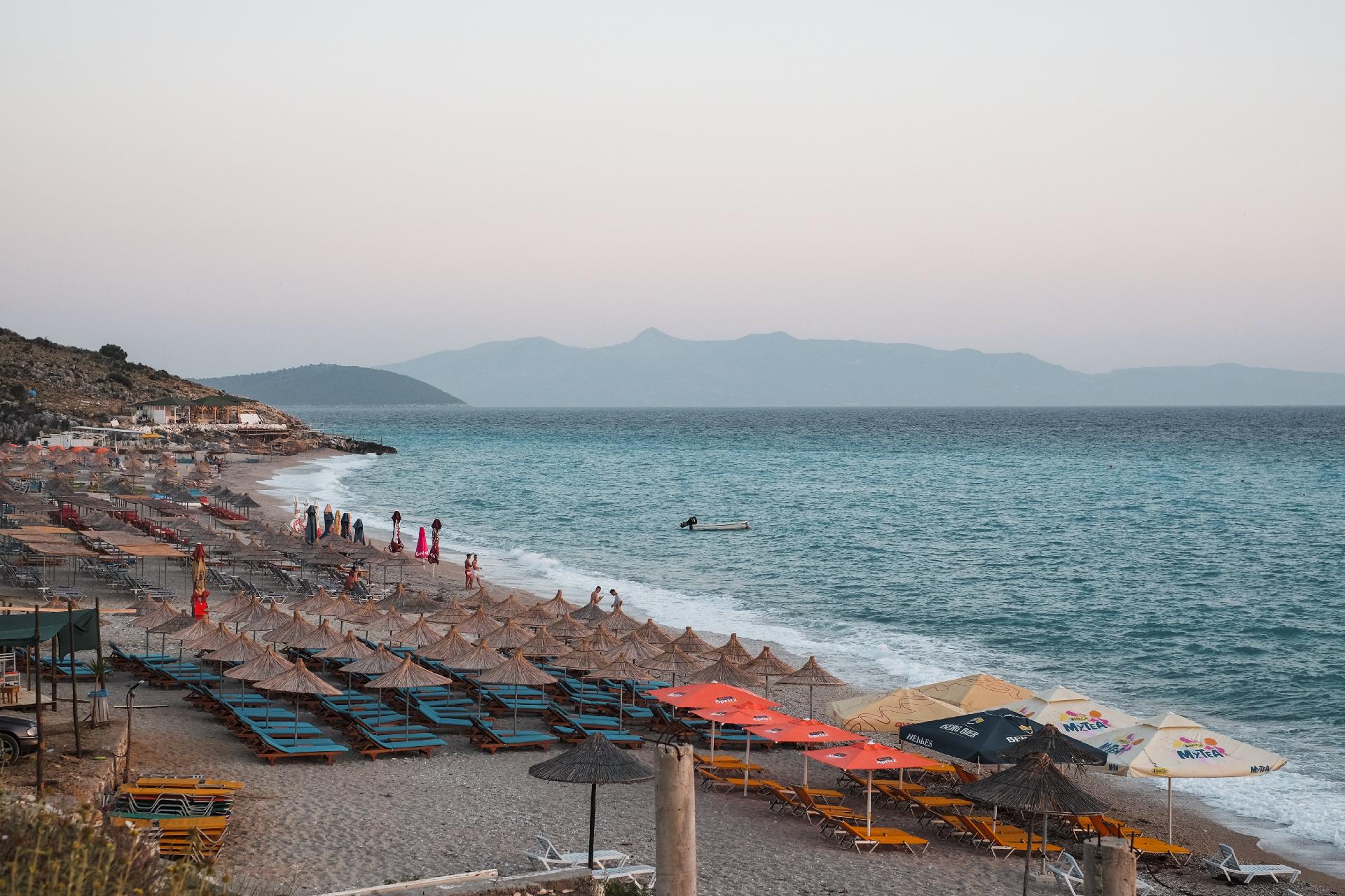 Lukovë beach, Albania road trip