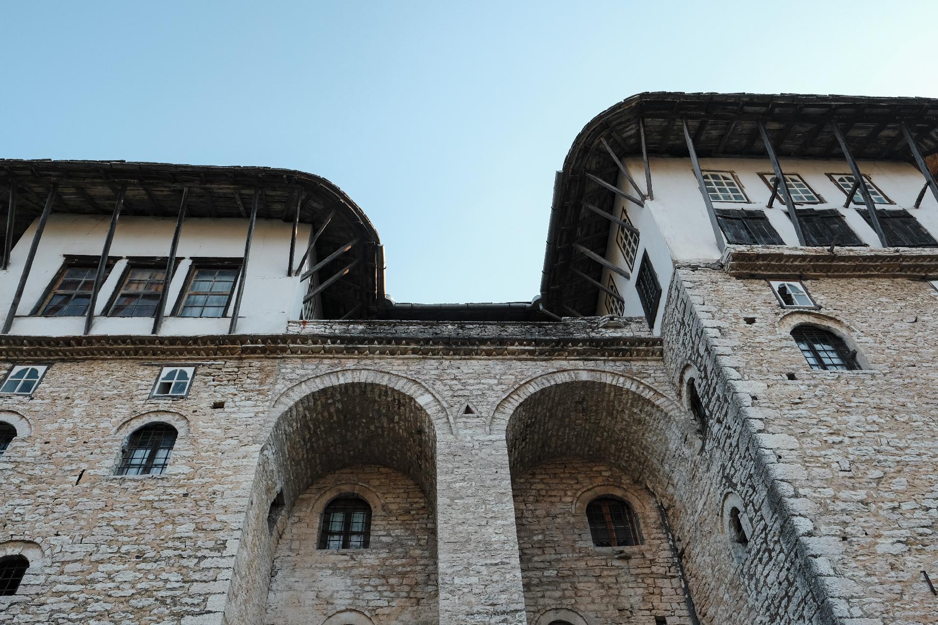 Front of Zekate house in Gjirokastër, the center of Albania