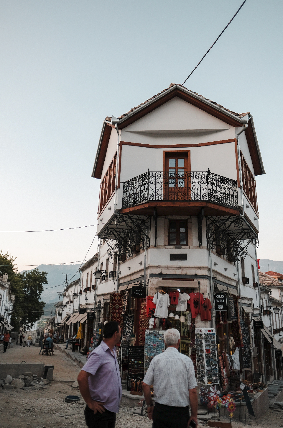 ottoman era house in the center of Gjirokastër, with Alma souvenir shop in the ground level.
