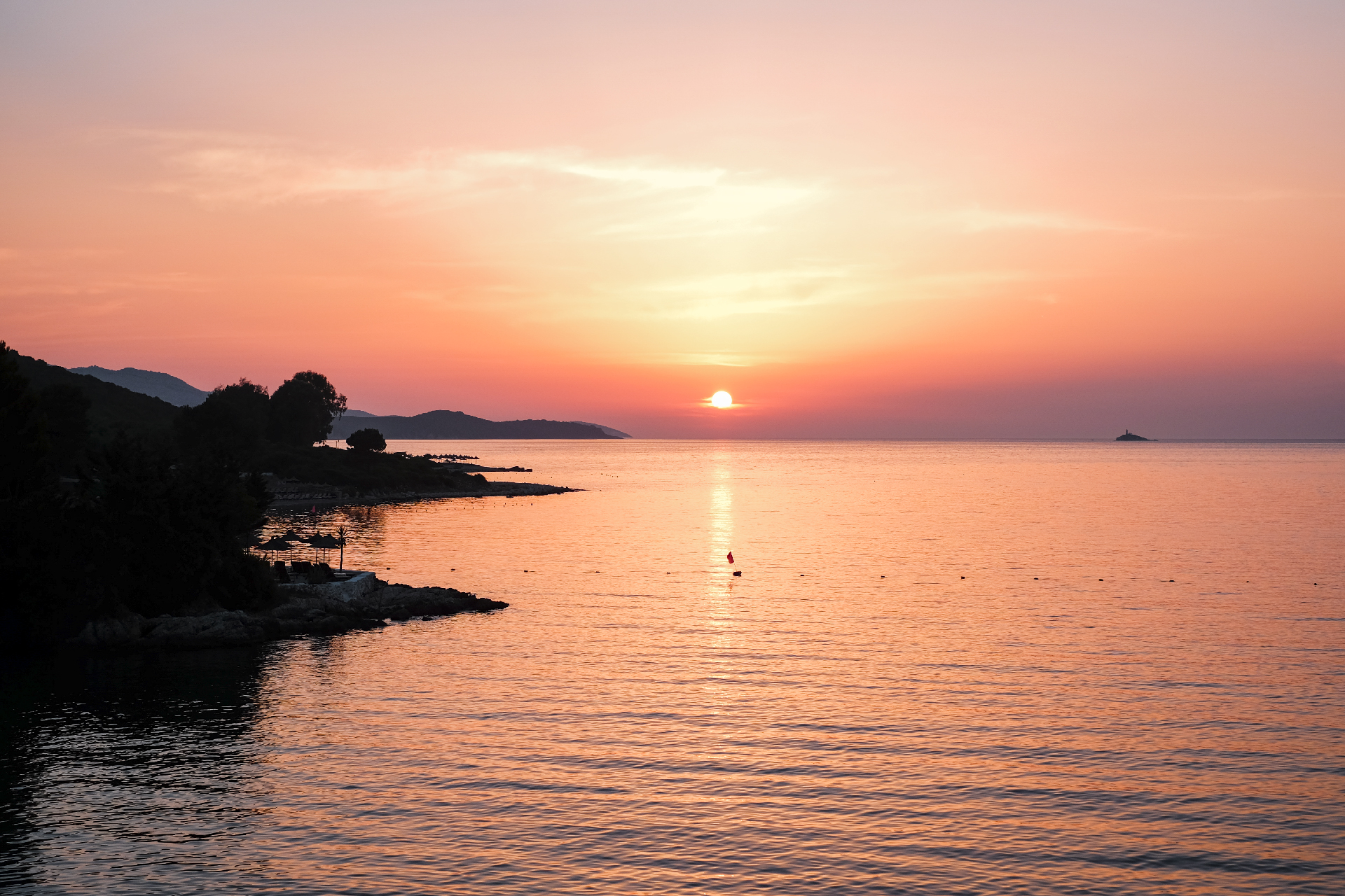 sunset at the beach, road trip in albania, Riviera